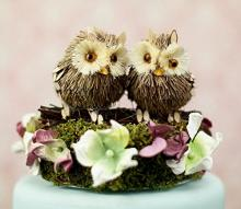 Owl Wedding Cake Topper