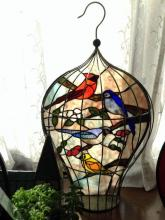 Stained Glass Birdcage