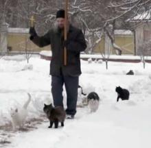 Russian Monk Blesses Cats Daily At Historic Monastery