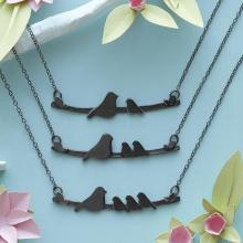Mother Nestling Bird Necklace