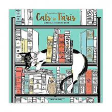 Cats in Paris Adult Coloring Book