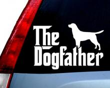 The Dogfather Window Decal