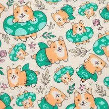 Corgi Beach Tote and Swimsuit