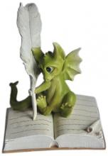Fairy Garden Writing Dragon Statue
