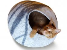 Meowfia Merino Wool Cat Cave Bed