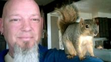 Adam Pearl and Joey The Hero Squirrel