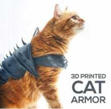 3D Printed Cat Armor Weaponizes Your Pet Pussycat