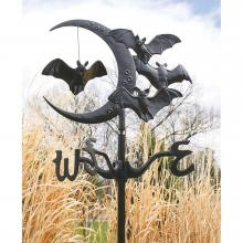 Bats and Moon Weathervane
