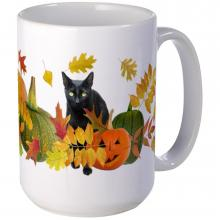 Black Cat Halloween Mug