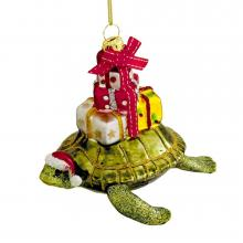 Santa Sea Turtle Ornament
