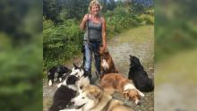 Canadian Woman and Dogs
