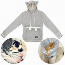 Mewgaroo Women's Pet Holder Hoodie