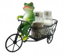 Zesty Ride Frog Salt and Pepper Shakers