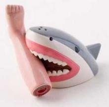 Shark Attack Salt & Pepper Shaker Set Makes A Great Gift For A Chum