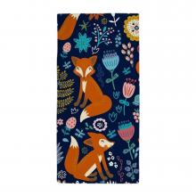 Foxes and Flowers Beach Towel