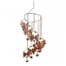 Owls and Bells Spiral Wind Chimes