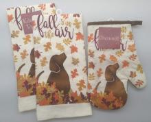 Fall is in the Air with Dog Kitchen Set