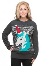 Festive Unicorn Holiday Sweater