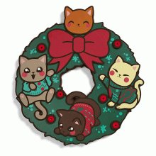 Cats in Ugly Sweaters Wreath