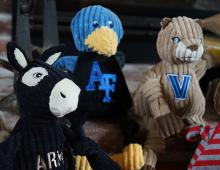 HuggleHounds University Knottie Tuffut Dog Toys: Army, Air Force, and Villanova Mascots