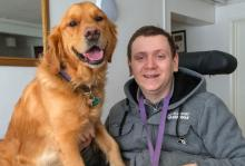 Service Dog, Ralph, and Paul Phillips