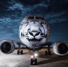 Kazakh Airline's New Jet Sports Very Nice 'Snow Leopard' Nose Art