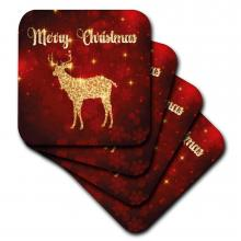 Merry Christmas Reindeer Coasters