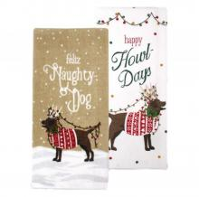 Naughty Dog Christmas Kitchen Towels