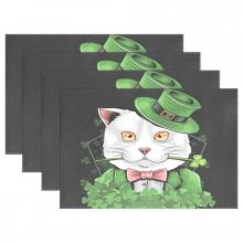 St. Patrick's Day Cat Placemat