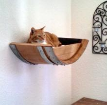 Recycled Wine Barrel Cat Beds Put The Napa In Naptime