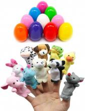 Easter Eggs Filled With Animal Finger Puppets