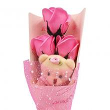 Teddy Bear with Soap Bouquet