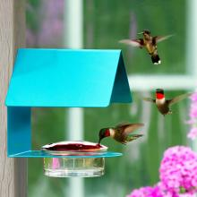 The Cottage Hummingbird Feeder (Aqua)