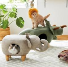 Jumbo Creature Cat Beds Challenge Living Room Lions