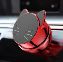 Cat's Head Magnetic Phone Holder Is Curiously Attractive