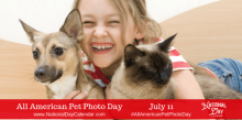 """All American Pet Photo Day"" Is Yet Another National Event To Celebrate Your Favorite Pet"