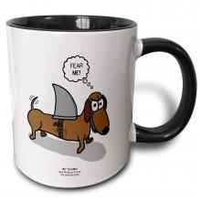 Wiener Dog With Shark Fin Mug