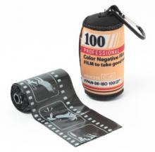 Retro Photo Film Style Dog Poop Bags & Holder Turn A Negative Into A Positive