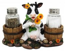 Old Country Farm Cow Salt and Pepper Shaker Set