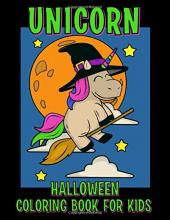 Unicorn Halloween Coloring Book