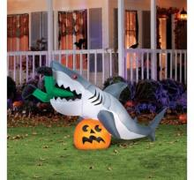Caught by a Shark Halloween Inflatable