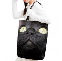 Big Black Cat Face Tote Bag Is A Real Looker