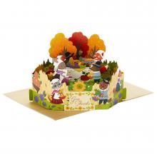 Thanksgiving Woodland Animals Pop-Up Card