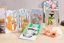 Cute Animal Holiday Greeting Cards