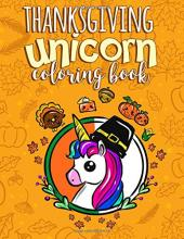 Thanksgiving Unicorn Coloring Book