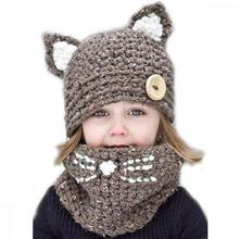 Knitted Animal Hat and Scarf