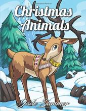 Christmas Animals Adult Coloring Book