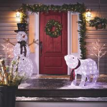 Christmas Polar Bear Lawn Ornament