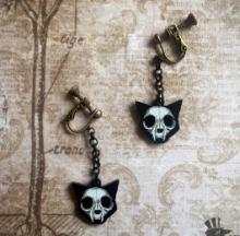 Cat Skull Earrings Are Not For Skittish Kitties