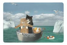 """Catanic"" Titanic Cat Cosplay Doormat"